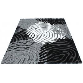 Ковер LUNA №2454A (Черный / Серый)