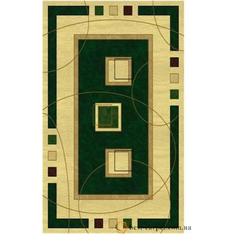Ковер AMBER № 0459A Зелено-Кремовый